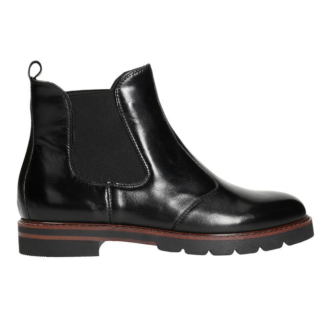 Damen-Chelsea-Boots aus Leder bata, Schwarz, 596-6657 - 15