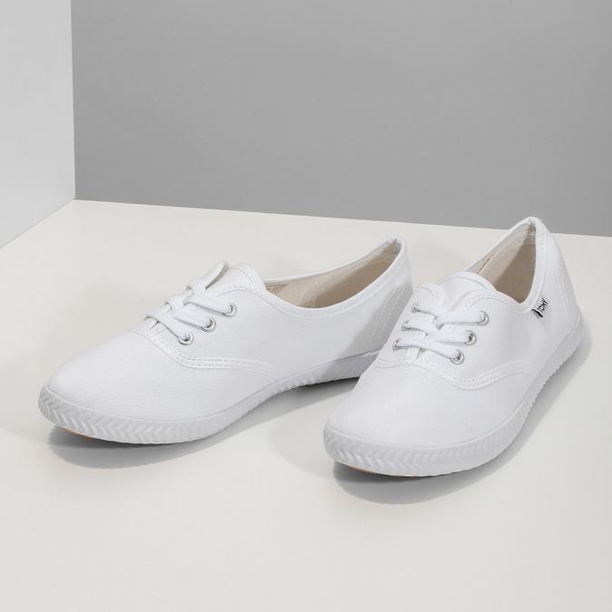 Weisse Damen-Sneakers tomy-takkies, Weiss, 589-1180 - 16