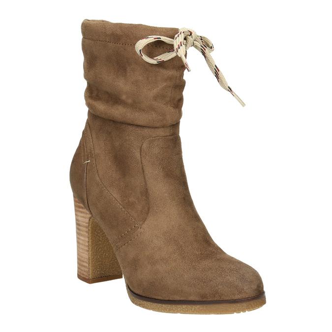 Braune Stiefel mit Absatz bata, Braun, 799-3613 - 13