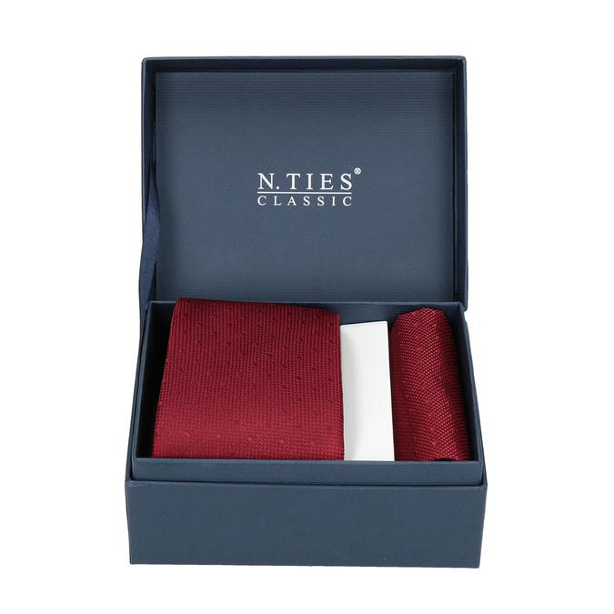 Rotes Set, bestehend aus Krawatte und Einstecktuch bata, Rot, 999-5290 - 13