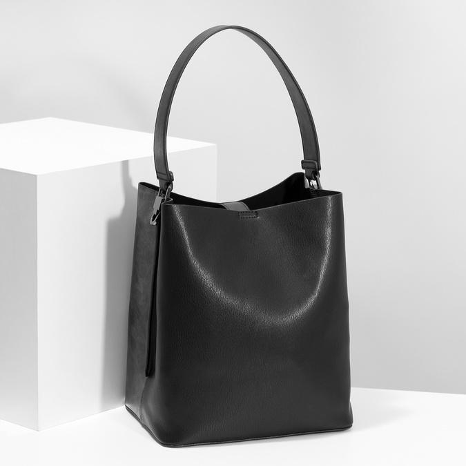 Schwarze Hobo-Damenhandtasche bata, Schwarz, 961-2173 - 17