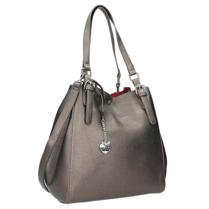 Handtasche mit silbernen Details cafe-noir, Gelb, 961-8097 - 13
