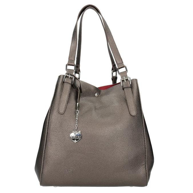 Handtasche mit silbernen Details cafe-noir, Gelb, 961-8097 - 26