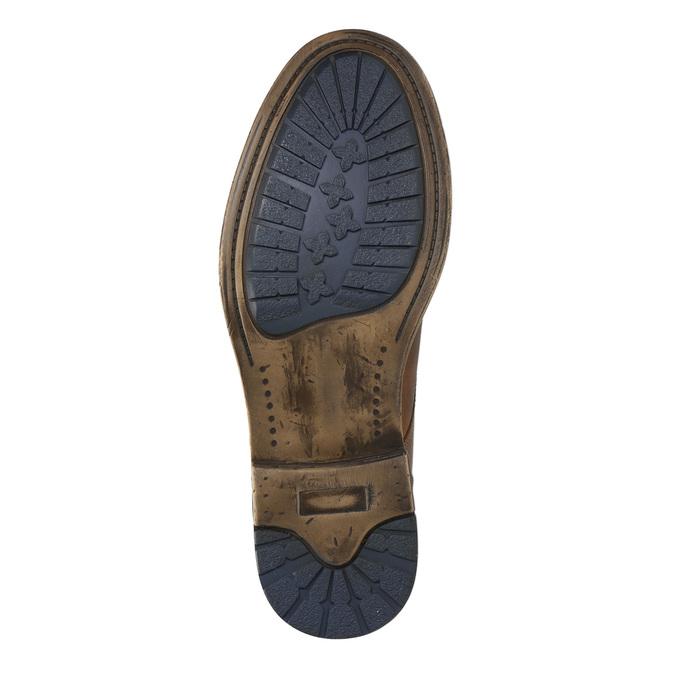 Braune Stiefeletten aus Leder bata, Braun, 896-3684 - 19