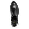 Knöchelschuhe aus Leder mit einer Schnalle bata, Schwarz, 594-6655 - 26