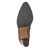 Lederstiefel mit Steppung bata, Braun, 794-4356 - 19