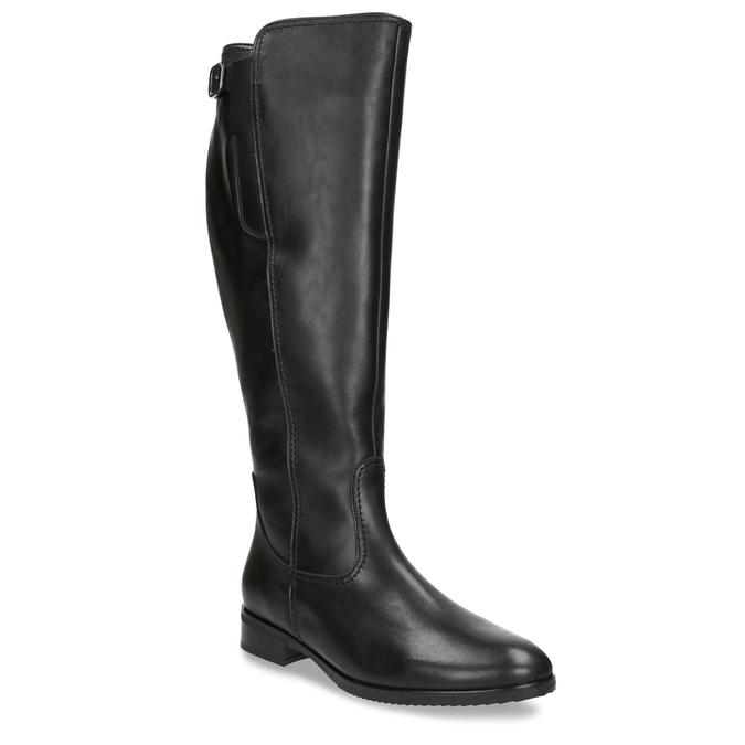 Schwarze Damenstiefel aus Leder gabor, Schwarz, 694-6164 - 13