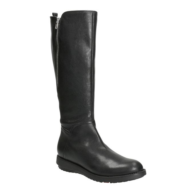 Damenstiefel aus Leder mit Reißverschluss flexible, Schwarz, 594-6651 - 13