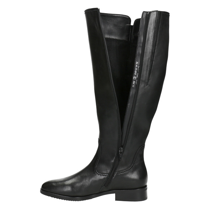 Schwarze Damenstiefel aus Leder gabor, Schwarz, 694-6164 - 15