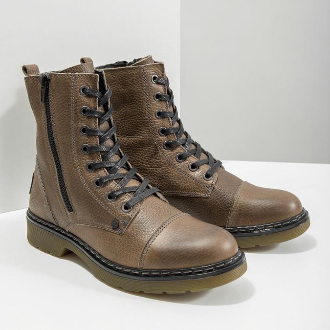 Damen-Knöchelschuhe aus Leder bata, Braun, 596-7681 - 18