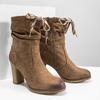 Braune Stiefel mit Absatz bata, Braun, 799-3613 - 18