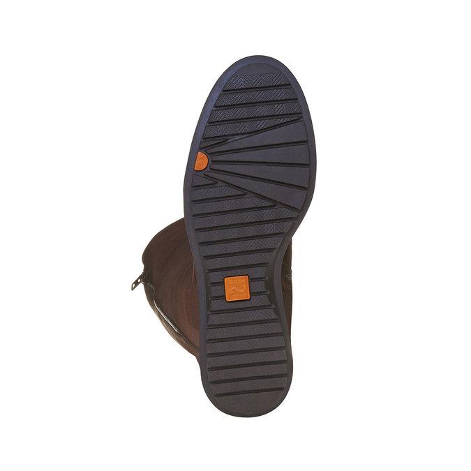 Braune Damenstiefel aus Leder mit Reißverschluss flexible, Braun, 594-4651 - 26