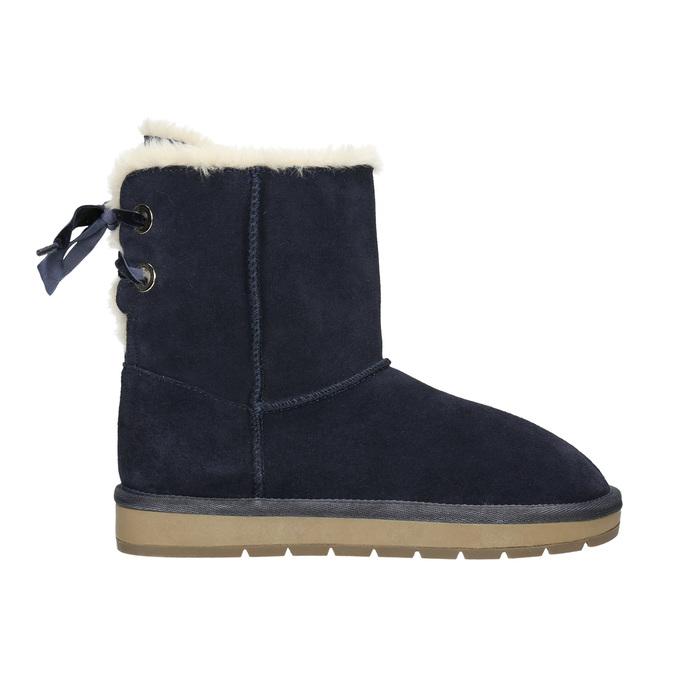 Velours-Stiefel für Damen bata, Blau, 593-9604 - 15