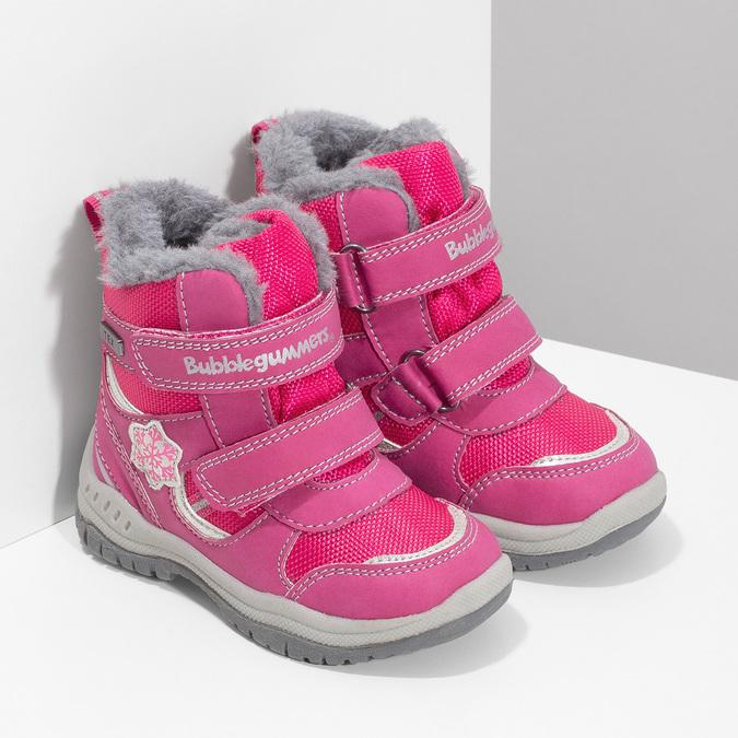Rosa Kinder-Schneestiefel bubblegummer, Rosa, 199-5602 - 26