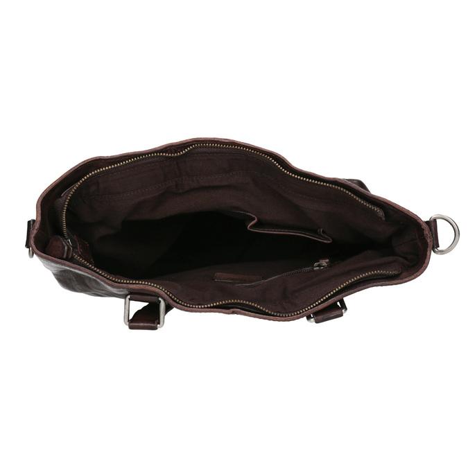 Braune Lederhandtasche bata, Braun, 964-4245 - 15