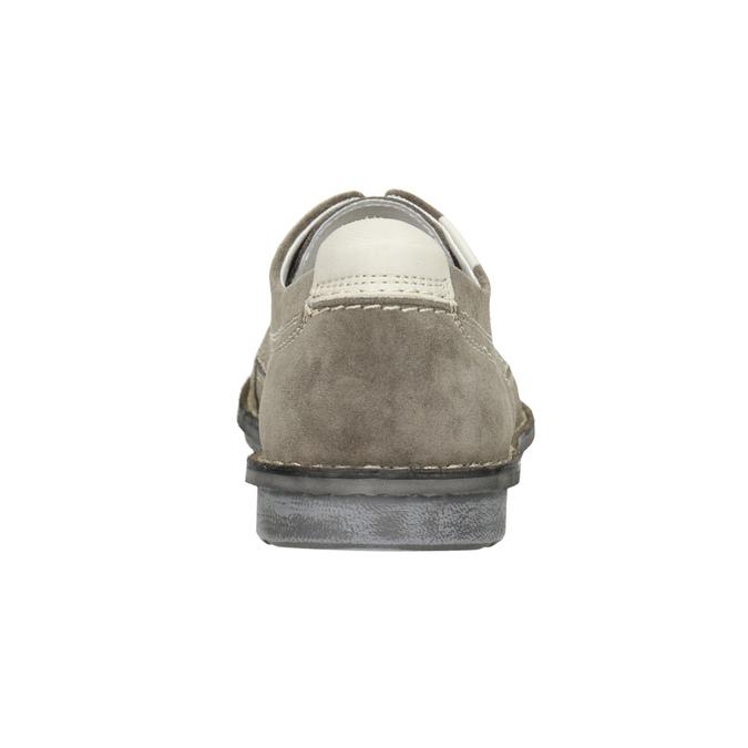 Legere Lederhalbschuhe bata, Grau, 853-2612 - 16