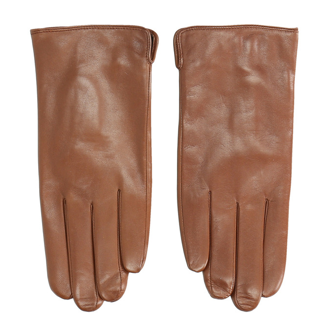 Braune Lederhandschuhe, Braun, 904-3129 - 26