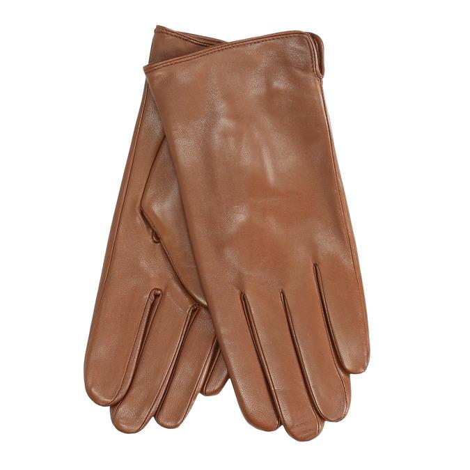 Braune Lederhandschuhe bata, Braun, 904-3129 - 13