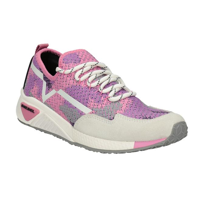 Sportliche, rosa Sneakers diesel, Rosa, 509-5760 - 13
