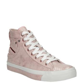 Knöchelhohe, rosa Damen-Sneakers diesel, Rot, 501-5743 - 13