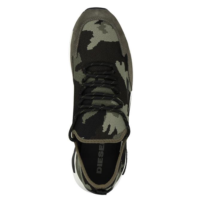 Herren-Sneakers mit Muster diesel, Grűn, 809-7602 - 15