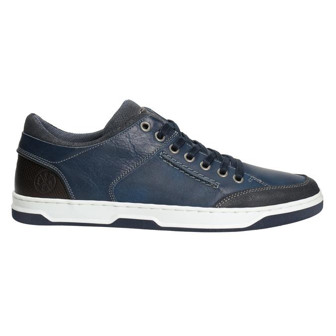 Blaue Leder-Sneakers bata, Blau, 846-9927 - 26
