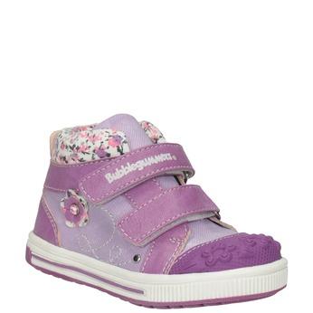 Knöchelhohe, gemusterte Kinder-Sneakers bubblegummer, Blau, 121-9618 - 13