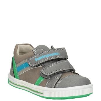 Kinder-Sneakers mit Klettverschluss bubblegummer, Grau, 111-2625 - 13