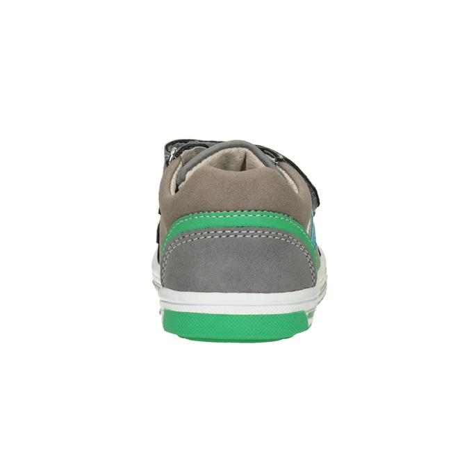 Kinder-Sneakers mit Klettverschluss bubblegummer, Grau, 111-2625 - 16
