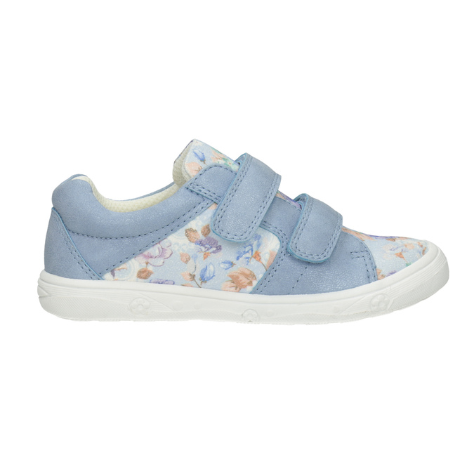 Gemusterte, blaue Kinder-Sneakers mini-b, 221-9215 - 26