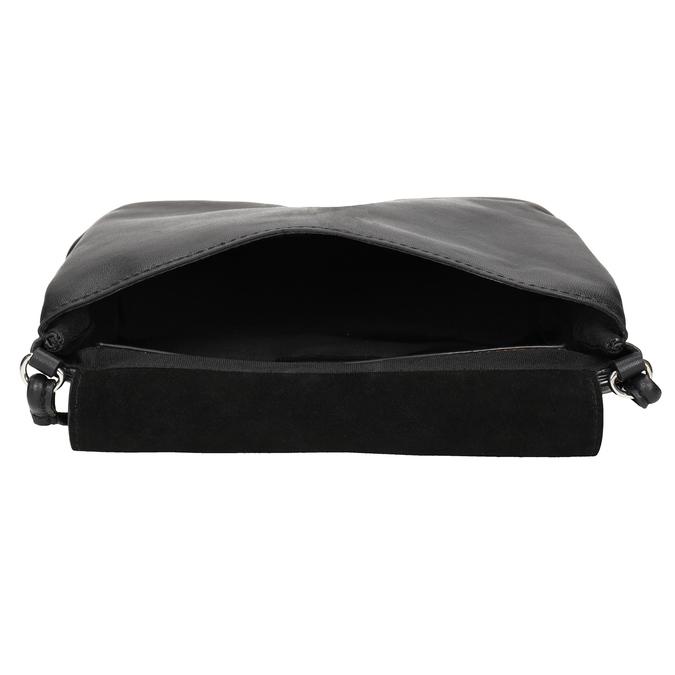 Crossbody-Damenhandtasche aus Leder bata, Schwarz, 964-6291 - 15