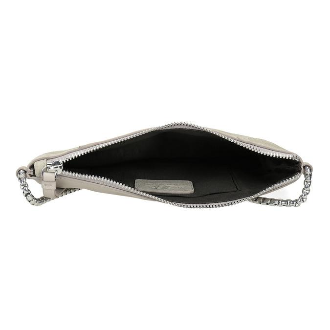 Crossbody-Damenhandtasche aus Leder bata, Grau, 963-1193 - 15