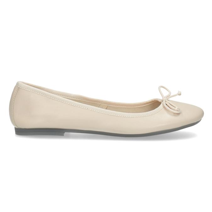 Leder-Ballerinas bata, Beige, 524-8144 - 19