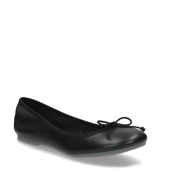 Leder-Ballerinas bata, Schwarz, 524-6144 - 13