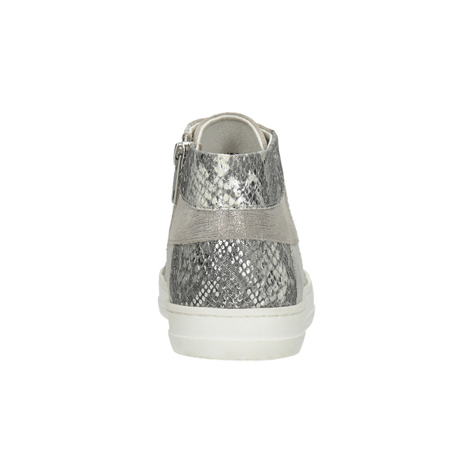 Knöchelhohe Leder-Sneakers bata, Grau, 546-2608 - 16