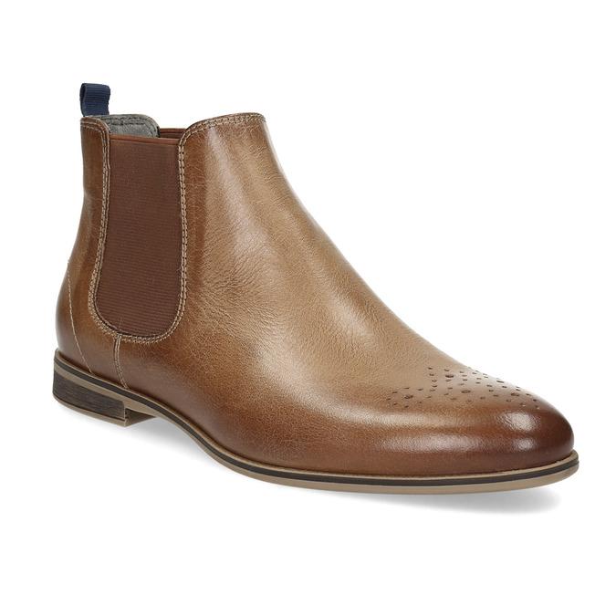Damen-Chelsea-Boots aus Leder bata, Braun, 596-3684 - 13