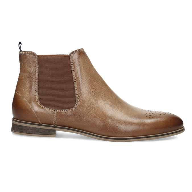Damen-Chelsea-Boots aus Leder bata, Braun, 596-3684 - 19