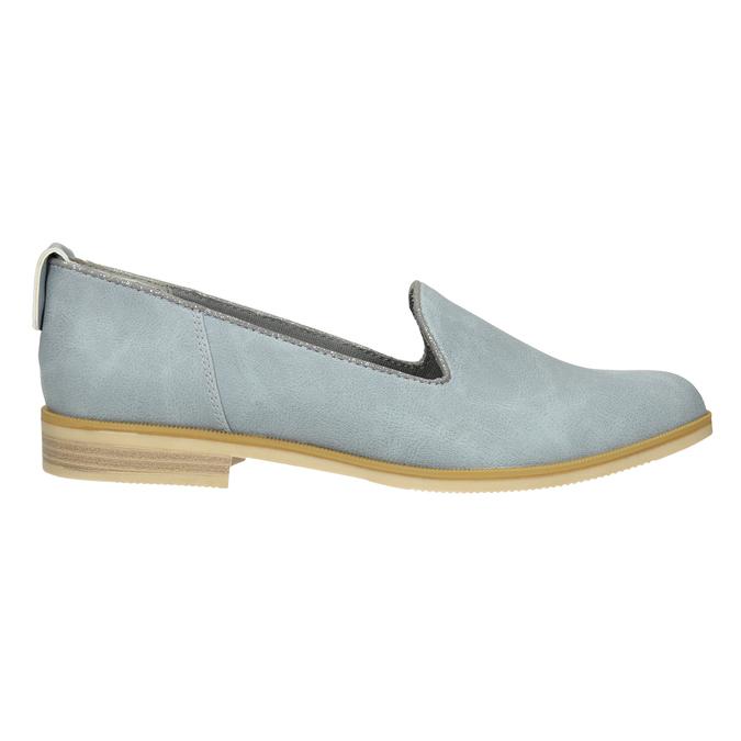 Damen-Loafers aus Leder bata, Blau, 519-9605 - 26