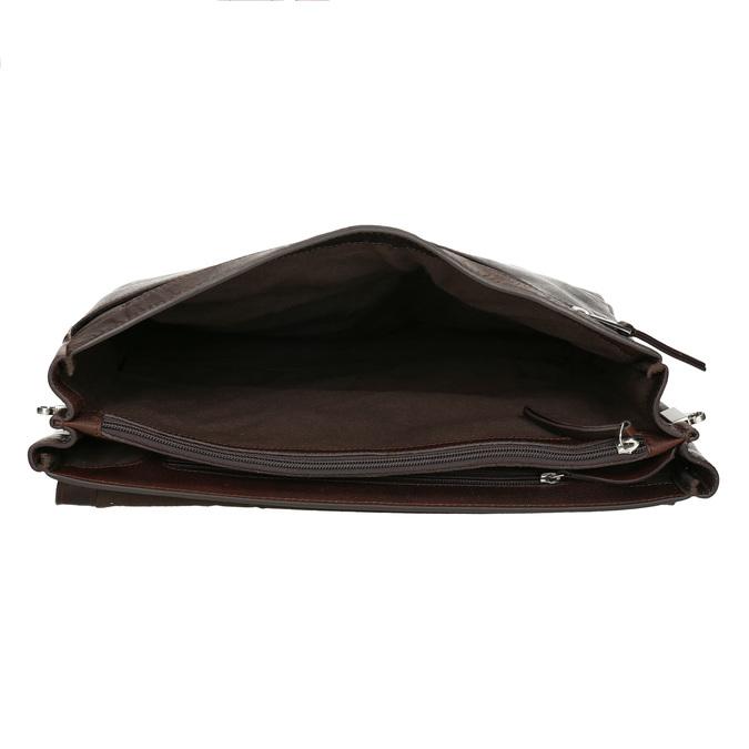 Braune Aktentasche aus Leder bata, Braun, 964-4289 - 15