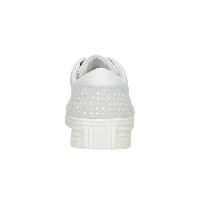 Legere Damen-Sneakers aus Leder bata, Weiss, 544-1606 - 16