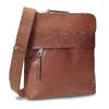 Braune Crossbody-Ledertasche bata, Braun, 964-4288 - 13
