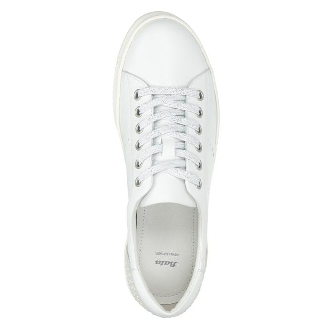 Legere Damen-Sneakers aus Leder bata, Weiss, 544-1606 - 15