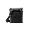 Schwarze Crossbody-Tasche aus Leder, Schwarz, 964-6288 - 26