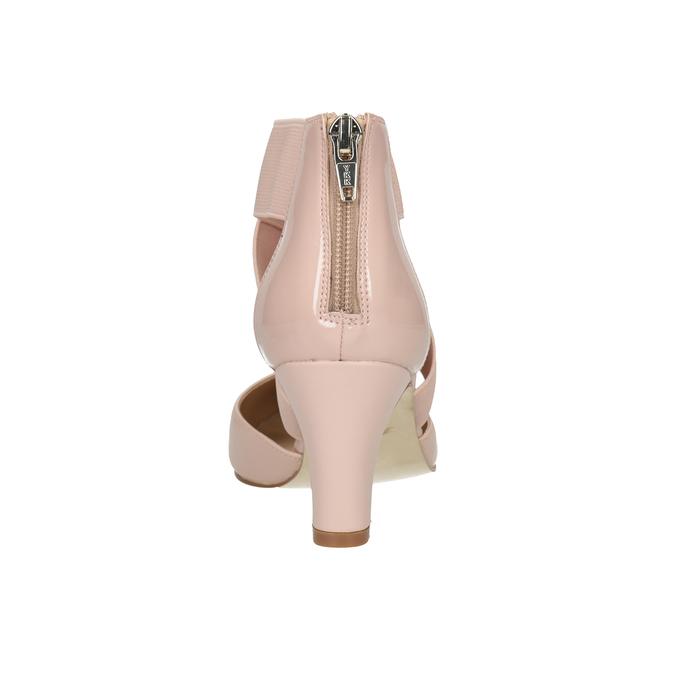 Nudefarbene Pumps aus Leder insolia, Rosa, 624-8643 - 16
