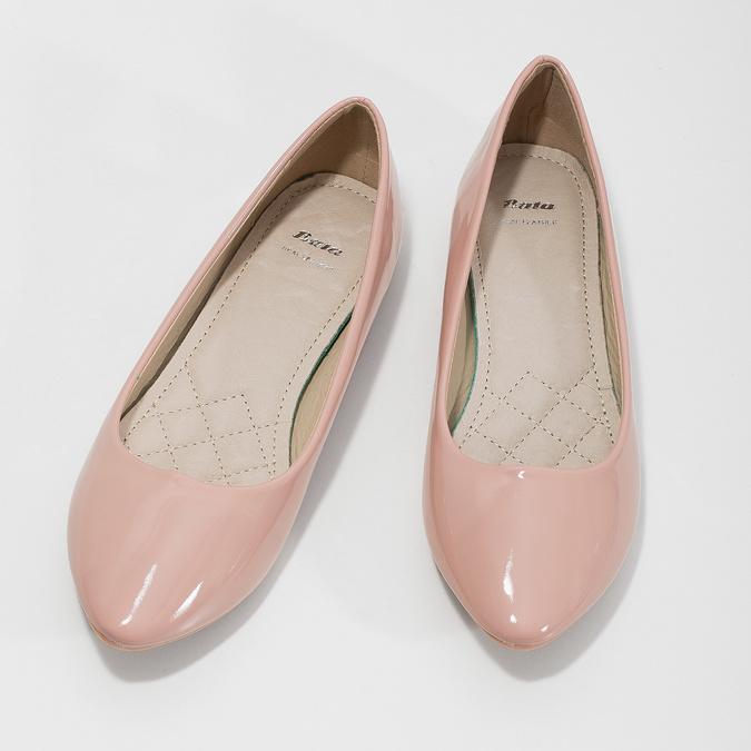Ballerinas in Lackleder-Ausführung bata, Rosa, 521-5602 - 16