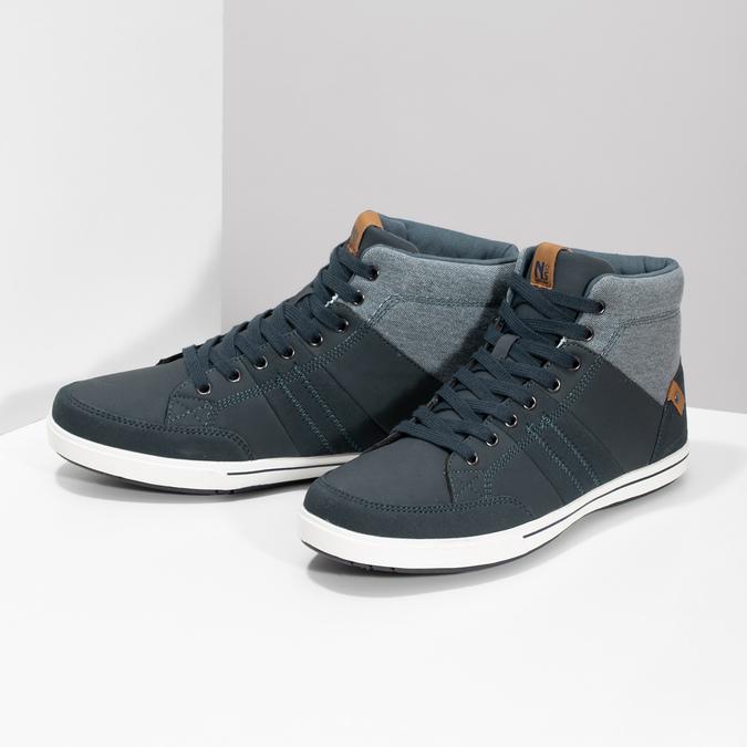 Blaue, knöchelhohe Sneakers north-star, Blau, 841-9608 - 16