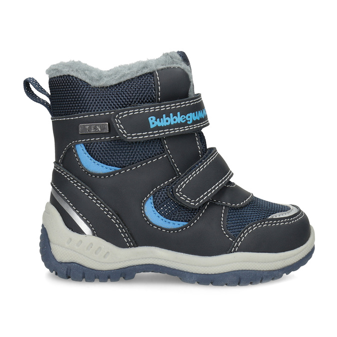 Kinder-Winterschuhe mit Fell bubblegummer, Blau, 199-9602 - 19