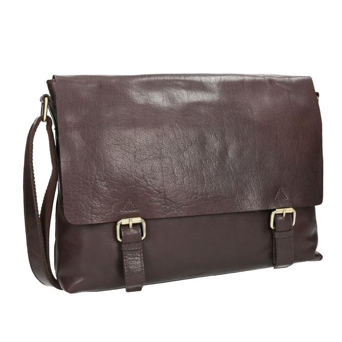Herrentasche aus Leder bata, Braun, 964-4235 - 13