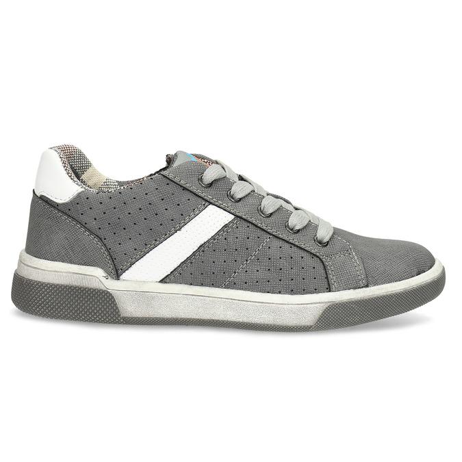 Kinder-Sneakers mit Perforation mini-b, Grau, 411-2102 - 19