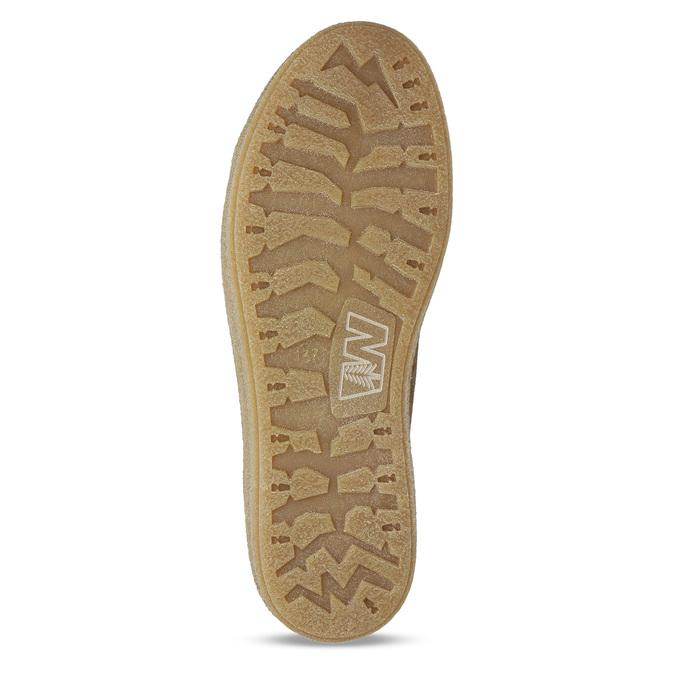 Knöchelhohe Leder-Sneakers mit Kunstpelz weinbrenner, Braun, 596-8627 - 18